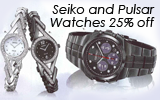 Watch Wednesday! Seiko and Pulsar 25% off!