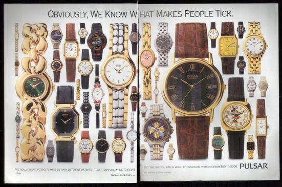 Pulsar Magazine Ad from 1993