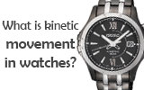 What is kinetic movement and how does it work in watches?