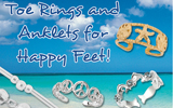 Make your feet happy with our Toe Rings and Anklets!