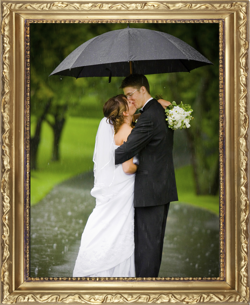 If it rains 1 or more on your wedding day you will get your