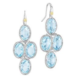 Sterling Silver Blue Topaz Tacori Earrings