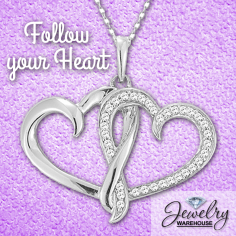 Follow your heart! - Available in stores or online. http://www.jewelrywarehouse.com