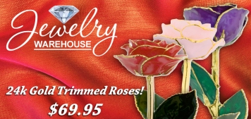 24k Gold Roses! - Available in stores or online. http://www.jewelrywarehouse.com