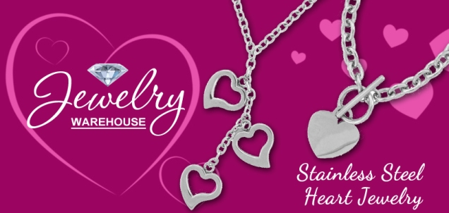 Stainless Steel Heart Jewelry - - Available in stores.