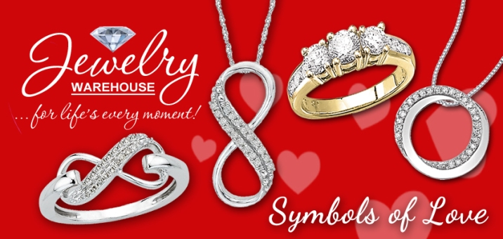 Symbols of Love - - Available in stores or online. http://www.jewelrywarehouse.com