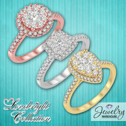 Lovebright Collection! - Available in stores or online. http://www.jewelrywarehouse.com