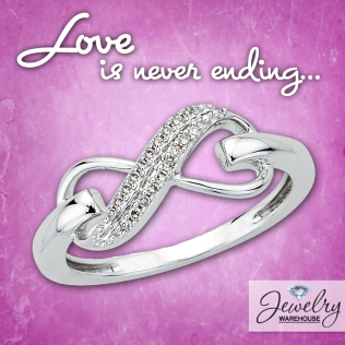 Love is never ending with infinity - - Available in stores or online. http://www.jewelrywarehouse.com