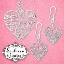 Southern Gates for your Sweetheart! - Available in stores or online. http://www.jewelrywarehouse.com