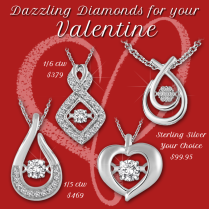 Dazzling Diamonds for your Valentine! - Available in stores or online. http://www.jewelrywarehouse.com
