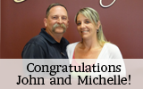 Congratulations to John andMichelle!