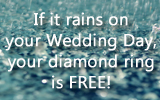If it rains 1″ on your wedding day, your diamond ring could be FREE!