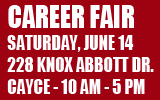 Career Fair this Saturday, June 14th