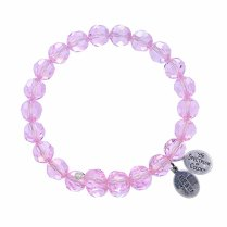 Pink Sapphire Crystal Bracelet $34