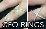 New Geo Rings!