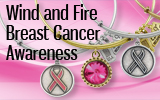 Wind and Fire Breast Cancer Awareness Bracelets