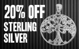 20% off Sterling Silver Jewelry!