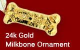 24k Gold MilkboneOrnament