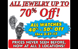 Watches 20-50% off!!