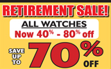 All Watches are now 40% – 80% off!