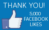 Thank you for 5,000 Facebook Likes!