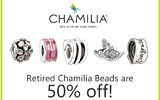 Retired Chamilia is 50% off!