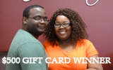 $500 Bridal Show Gift Card Winner