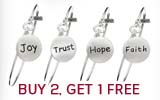 Buy 2, Get 1 FREE Inspirational Disc Bracelets!