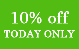 Happy St. Patrick's Day! Take 10% off any single item! Today Only!